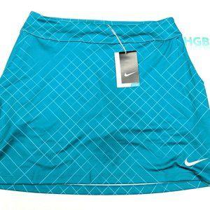 """Nike Golf Dri-Fit 17"""" Skort Blue Green Teal Cool"""